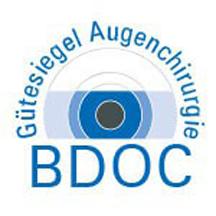 Gütesiegel Augenchirurgie des Bundesverbands Deutscher Ophthalmochirurgen (BDOC)